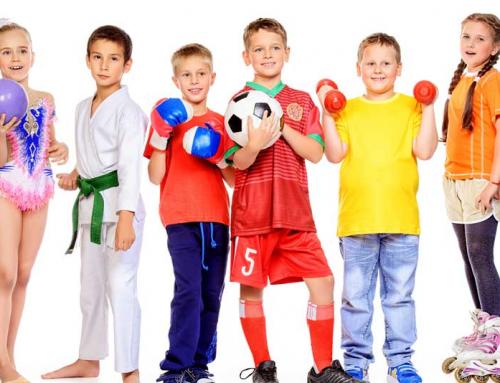 Sportende kinderen